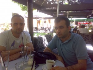 Relaxing with good friend, GM Borko Lajthajm
