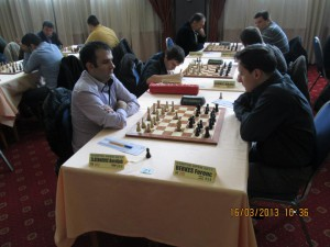 Playing against superstar GM Ferenc Berkes