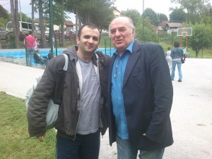 Me with legendary singer and strong chessplayer, Miki Jevremovic