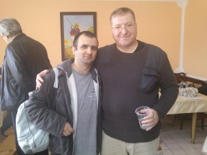 Me with famous actor, Goran Danicic