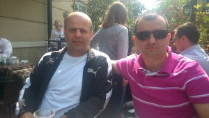 Relaxing with friend, IM Dragan Kojovic