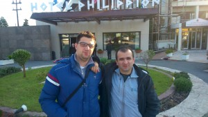 Me with GM Miljkovic in Thessaloniki