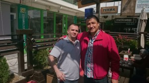 Me with Golden Boot Award Winner for 1991, legendary FC Red Star striker, Darko Pancev
