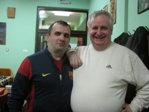 Me with friend, Nebojsa Radosavljevic, famous photographer