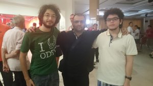 Me with student Tuna Ozates and his brother Mert