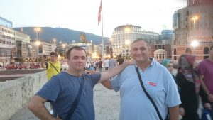 With friend Boban Bozinovic enjoying in Skopje